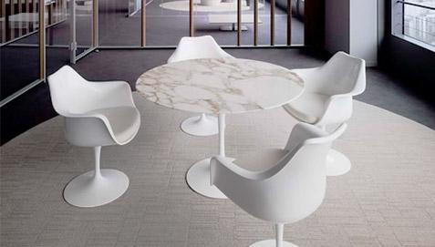 Table Tulipe Eero Saarinen Style Marbre 90 Cm