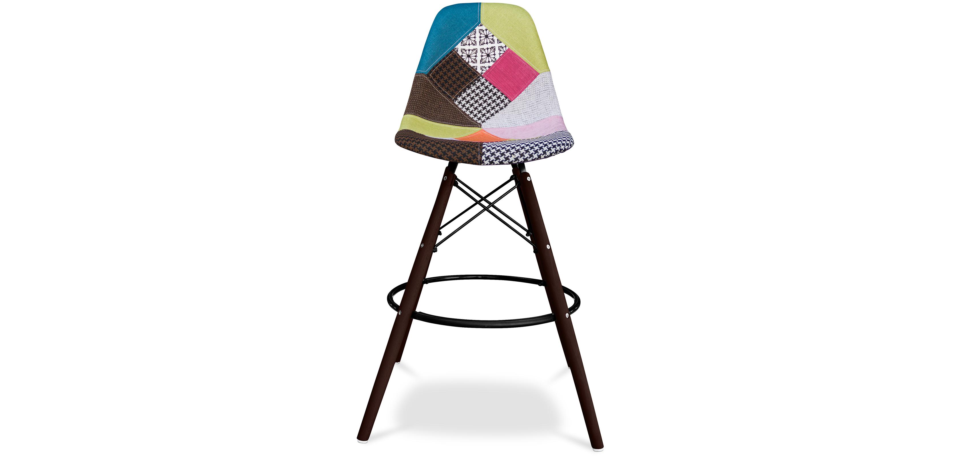 tabouret de bar geneva pi tement fonc patchwork pek. Black Bedroom Furniture Sets. Home Design Ideas