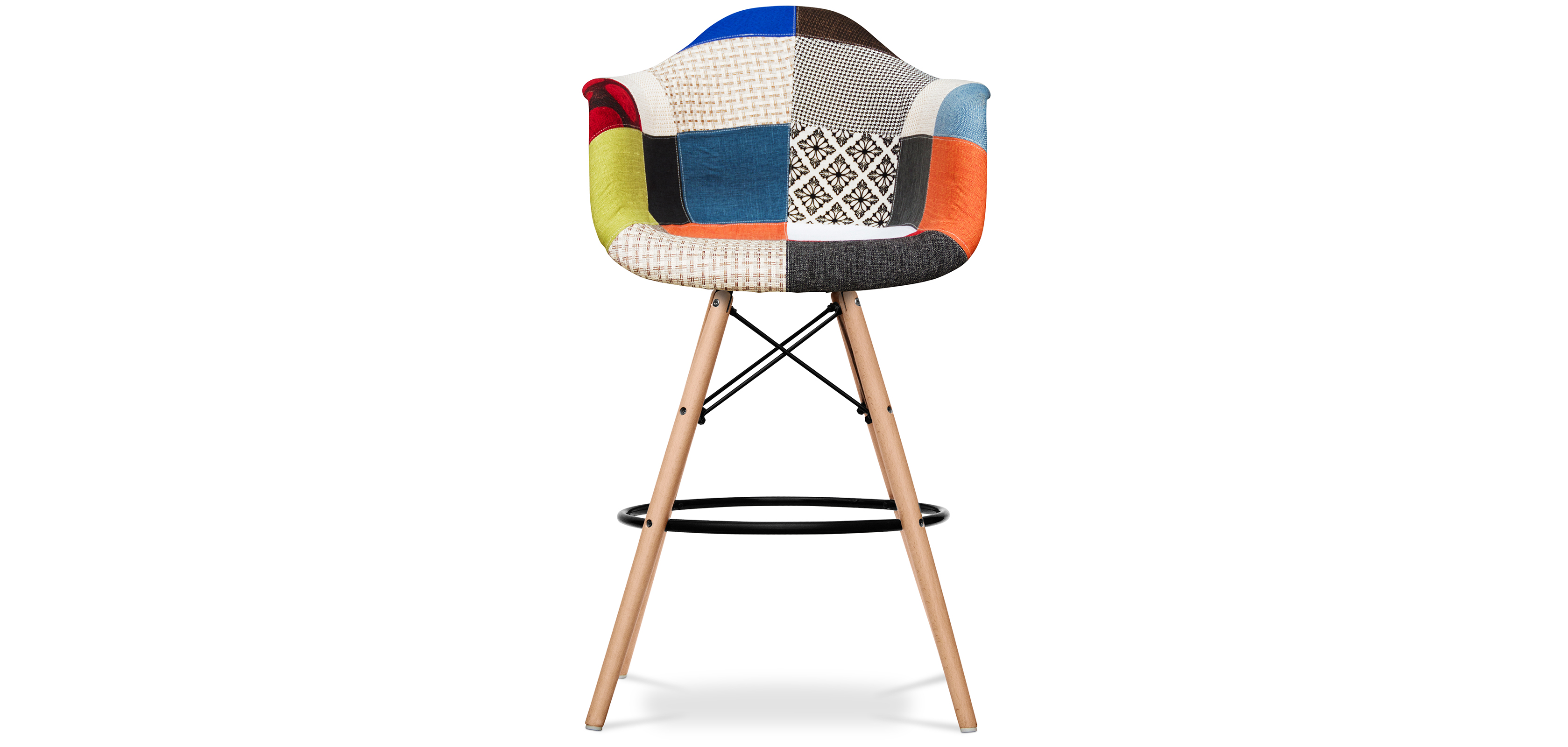 tabouret daw charles eames style patchwork. Black Bedroom Furniture Sets. Home Design Ideas