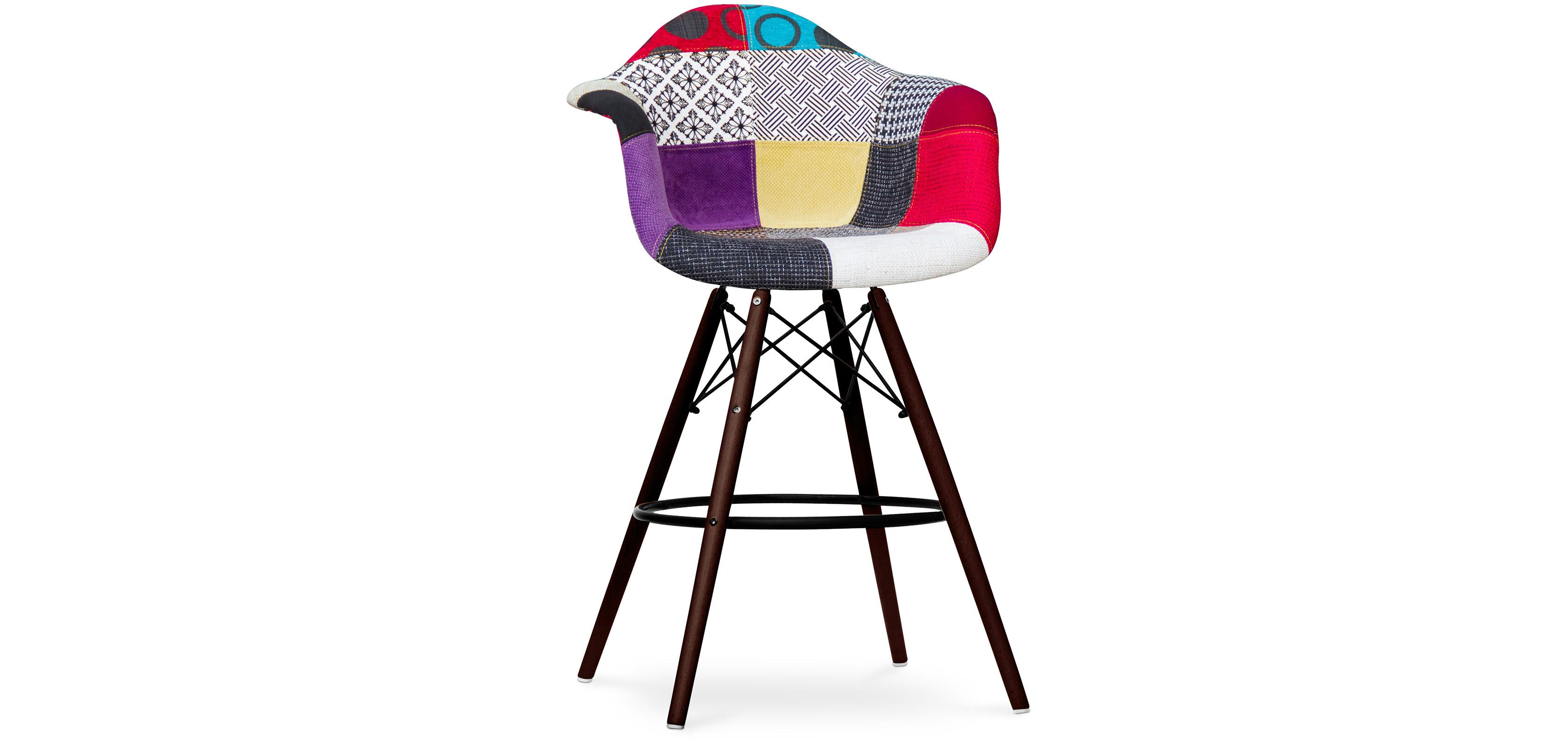 tabouret de bar darwin pi tement fonc patchwork ray. Black Bedroom Furniture Sets. Home Design Ideas