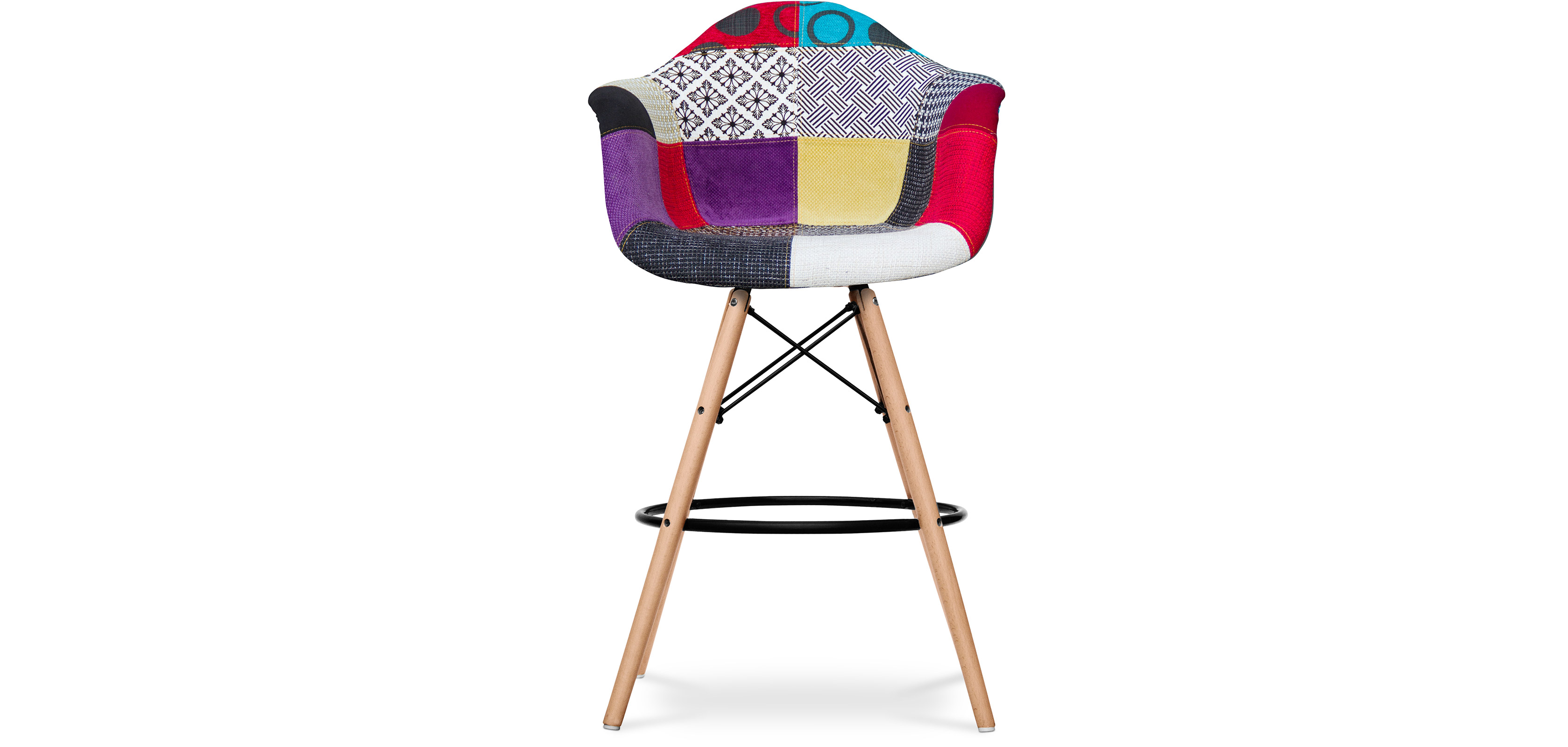 tabouret de bar daw eames patchwork. Black Bedroom Furniture Sets. Home Design Ideas