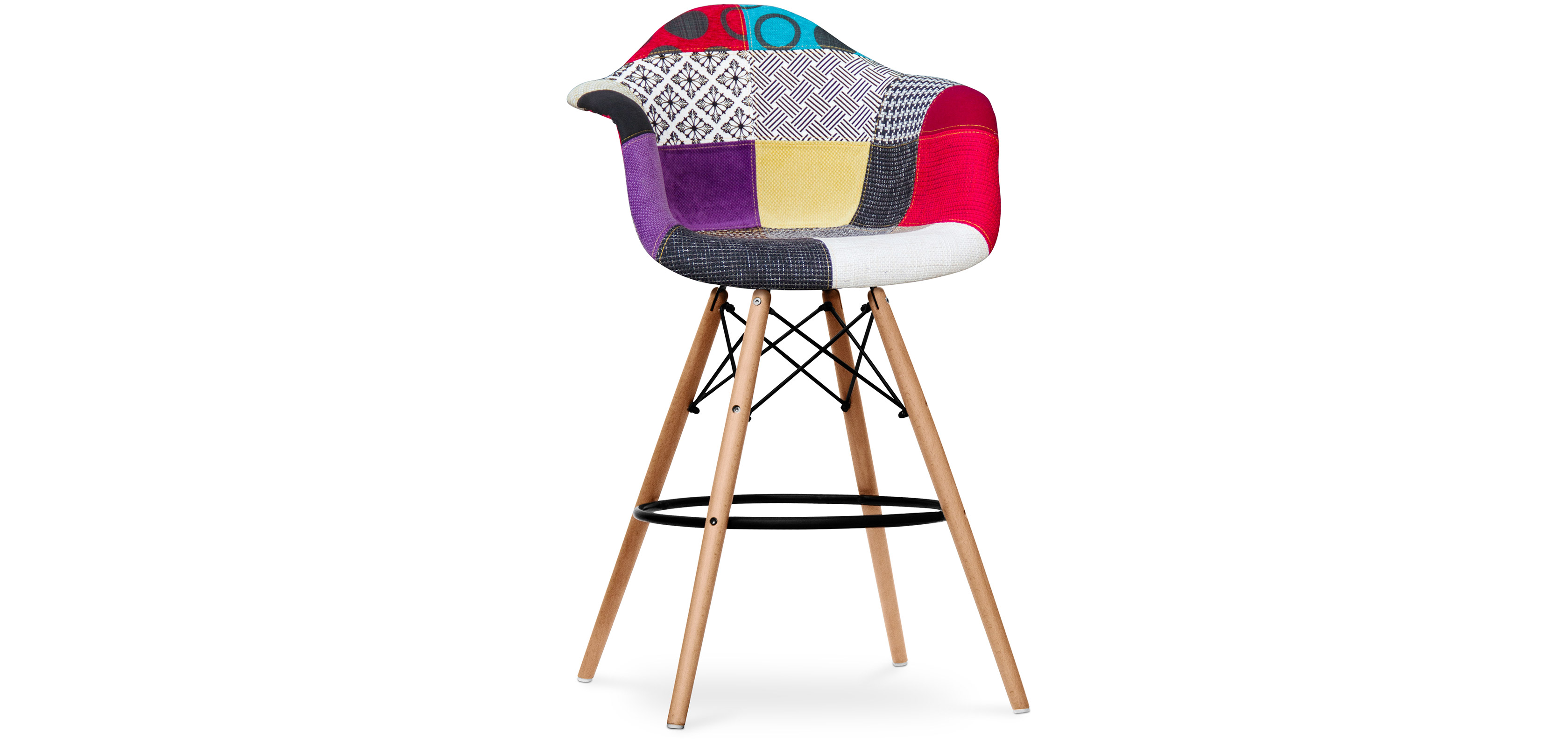 tabouret de bar darwin patchwork ray. Black Bedroom Furniture Sets. Home Design Ideas