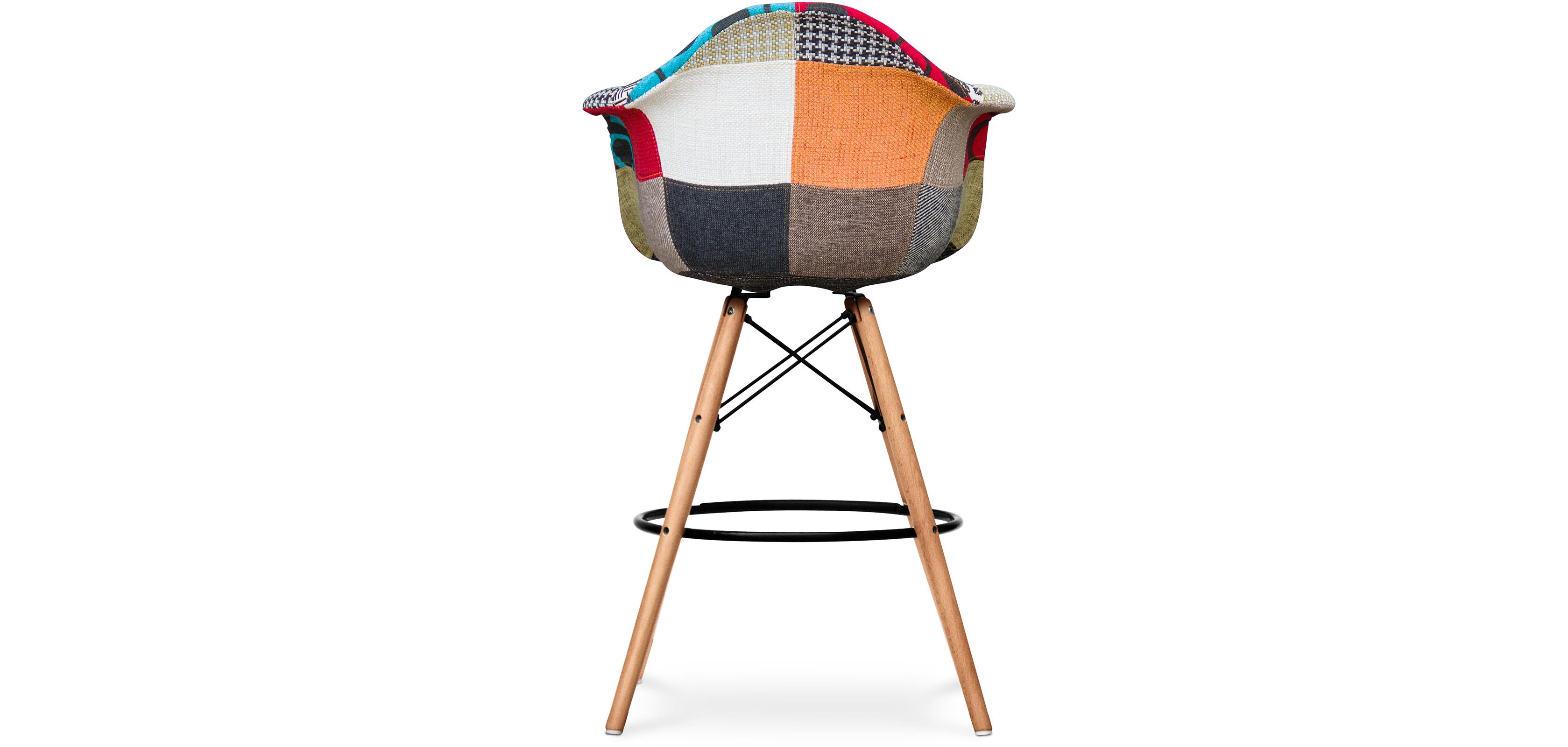 tabouret de bar darwin patchwork jay. Black Bedroom Furniture Sets. Home Design Ideas
