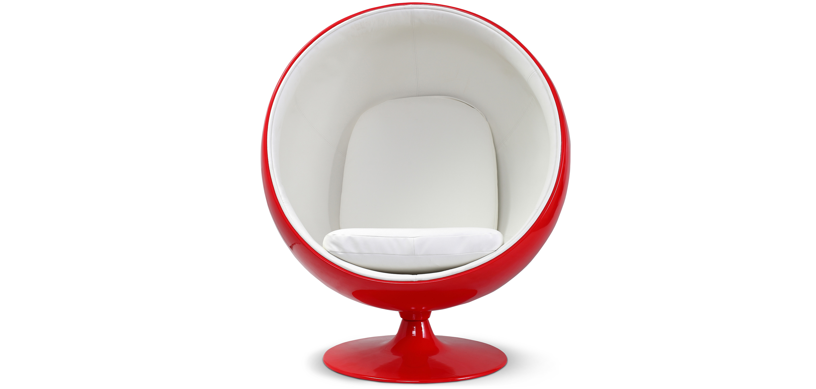 fauteuil ball chair rouge eero aarnio style simili cuir. Black Bedroom Furniture Sets. Home Design Ideas