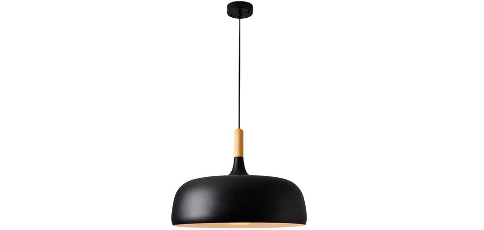 suspension en m tal noir et bois circus. Black Bedroom Furniture Sets. Home Design Ideas