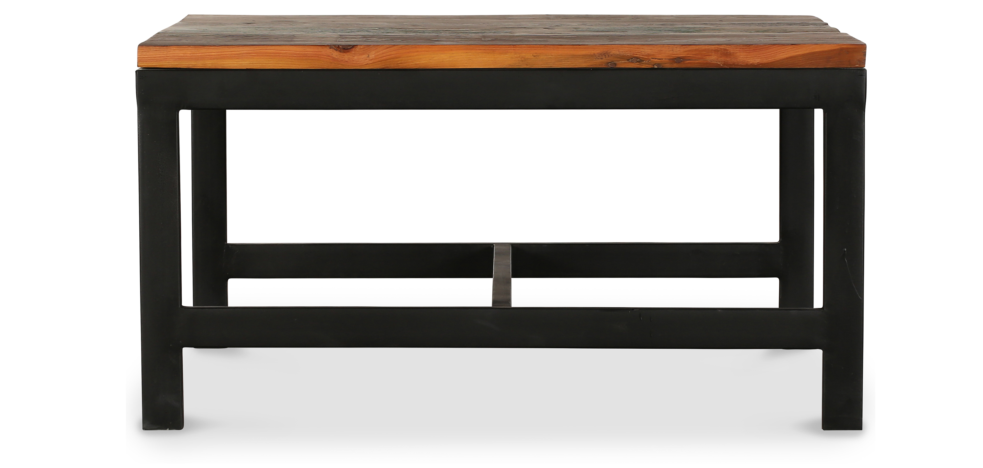 table basse vintage industriel acier et bois. Black Bedroom Furniture Sets. Home Design Ideas