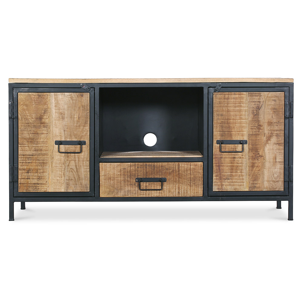 meuble tv design vintage. Black Bedroom Furniture Sets. Home Design Ideas