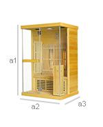sauna infrarouge 2 personnes bois naturel. Black Bedroom Furniture Sets. Home Design Ideas