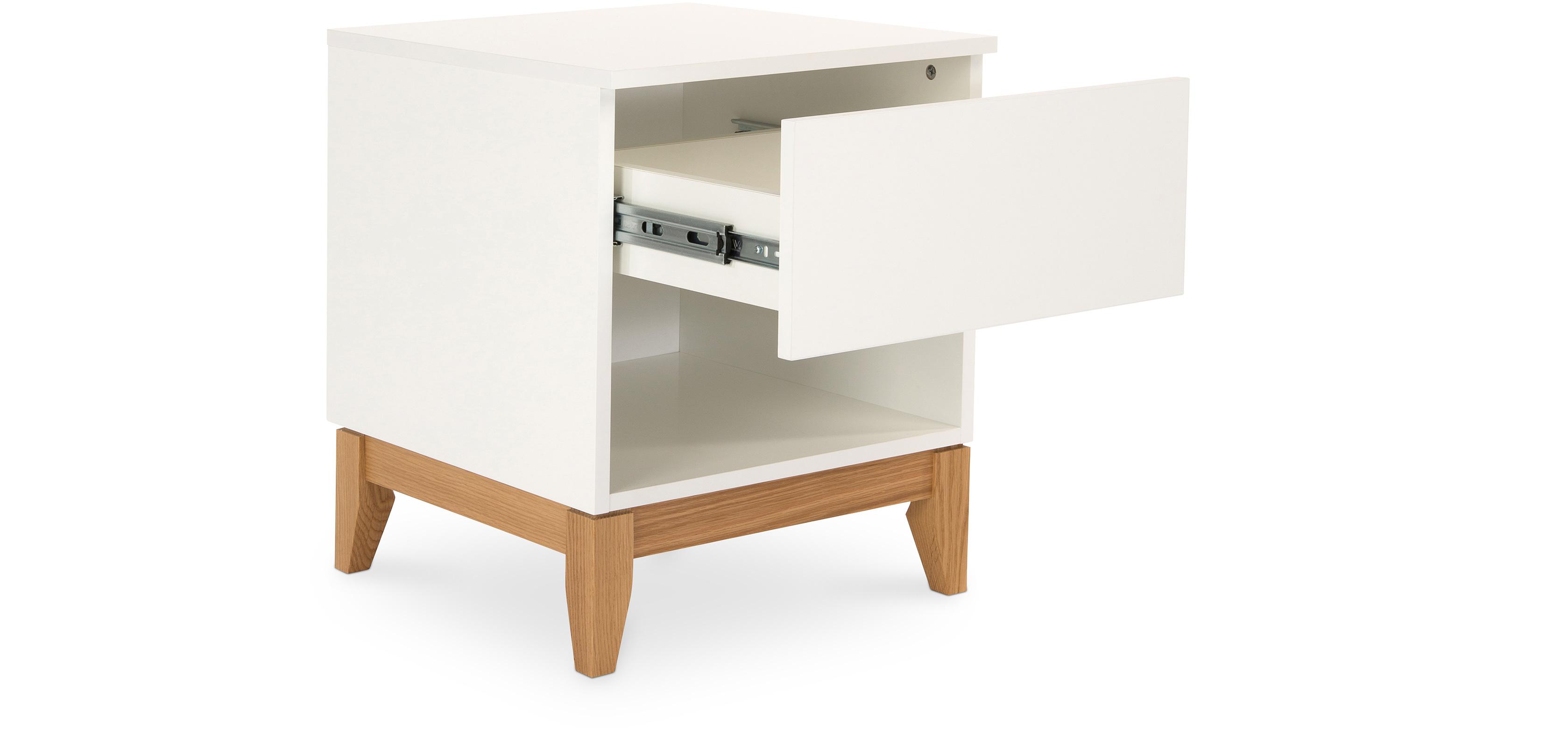 table de nuit style scandinave miurem. Black Bedroom Furniture Sets. Home Design Ideas