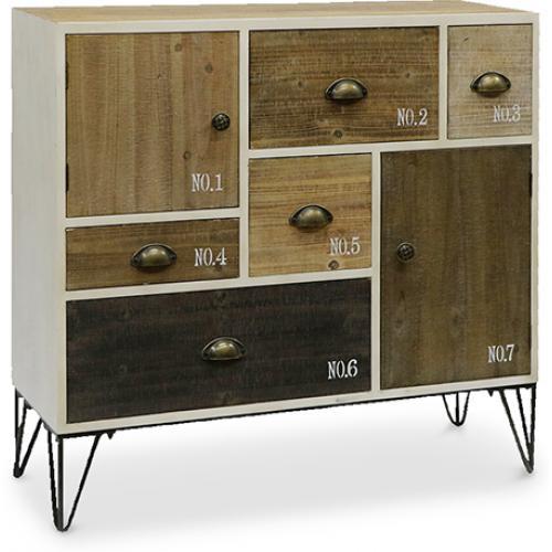 buffet vintage vieilli. Black Bedroom Furniture Sets. Home Design Ideas