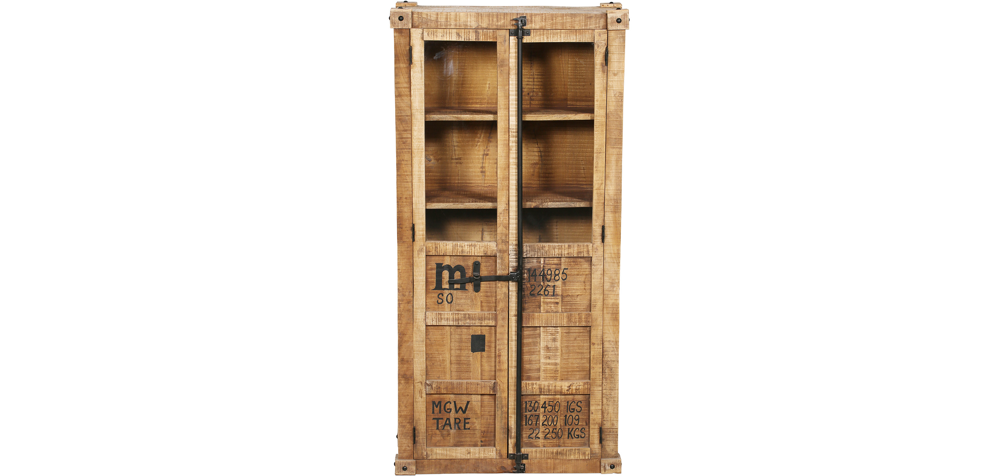 armoire en bois de manguier de style industriel. Black Bedroom Furniture Sets. Home Design Ideas