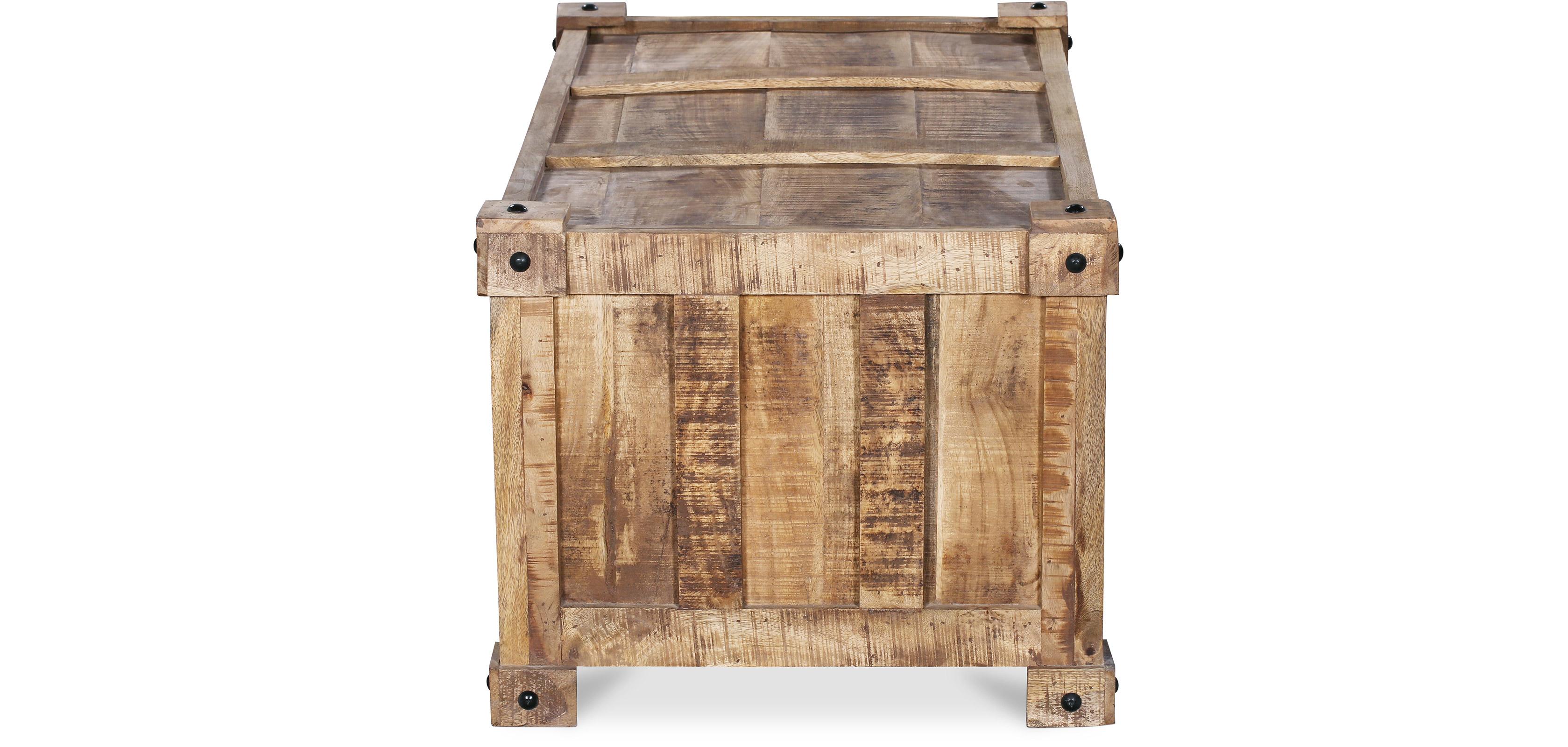 Table basse en bois de manguier style industriel - Table basse en manguier ...
