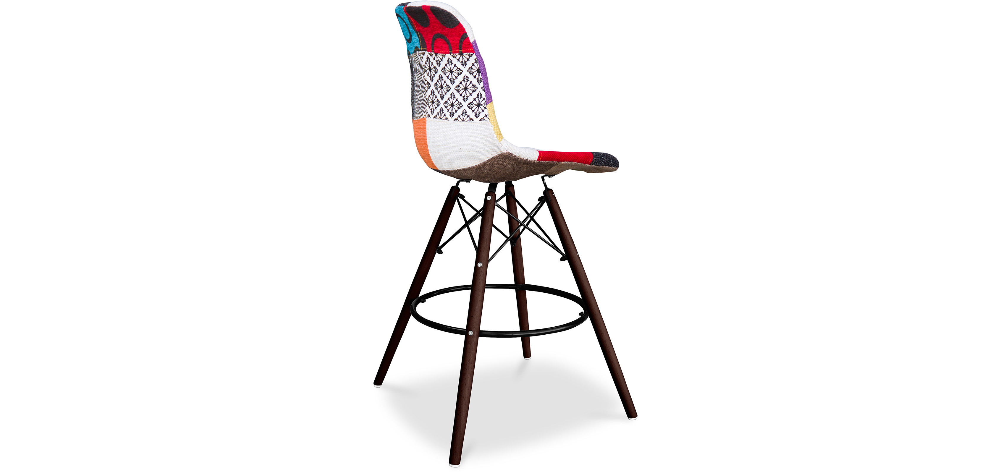 tabouret de bar dsw charles eames pi tement fonc patchwork. Black Bedroom Furniture Sets. Home Design Ideas