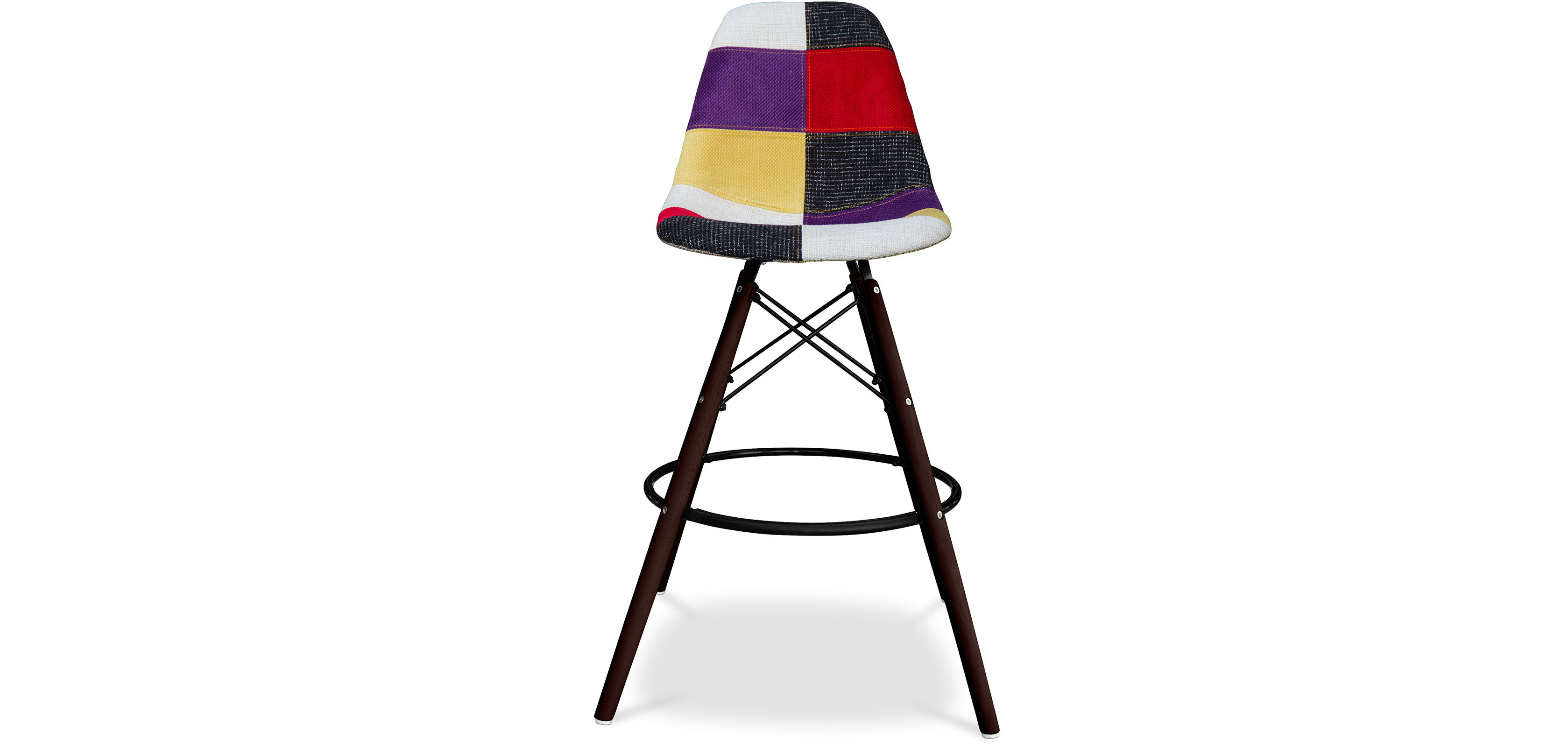 tabouret de bar dsw charles eames pi tement fonc patchwork. Black Bedroom Furniture Sets. Home Design Ideas