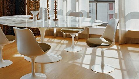 Table Tulipe Eero Saarinen Style Marbre 120 Cm