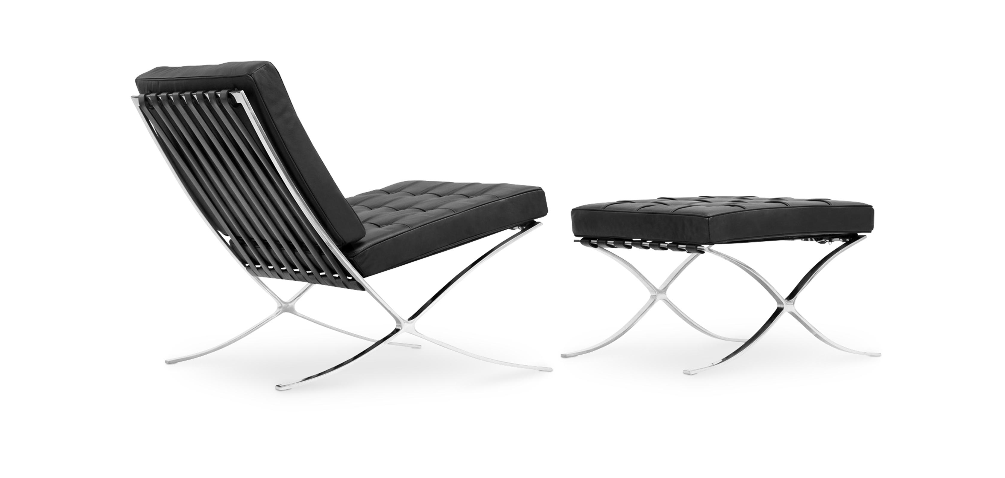 fauteuil barcelona ottoman ludwig mies van der rohe. Black Bedroom Furniture Sets. Home Design Ideas