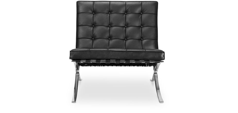 fauteuil barcelona ludwig mies van der rohe cuir. Black Bedroom Furniture Sets. Home Design Ideas