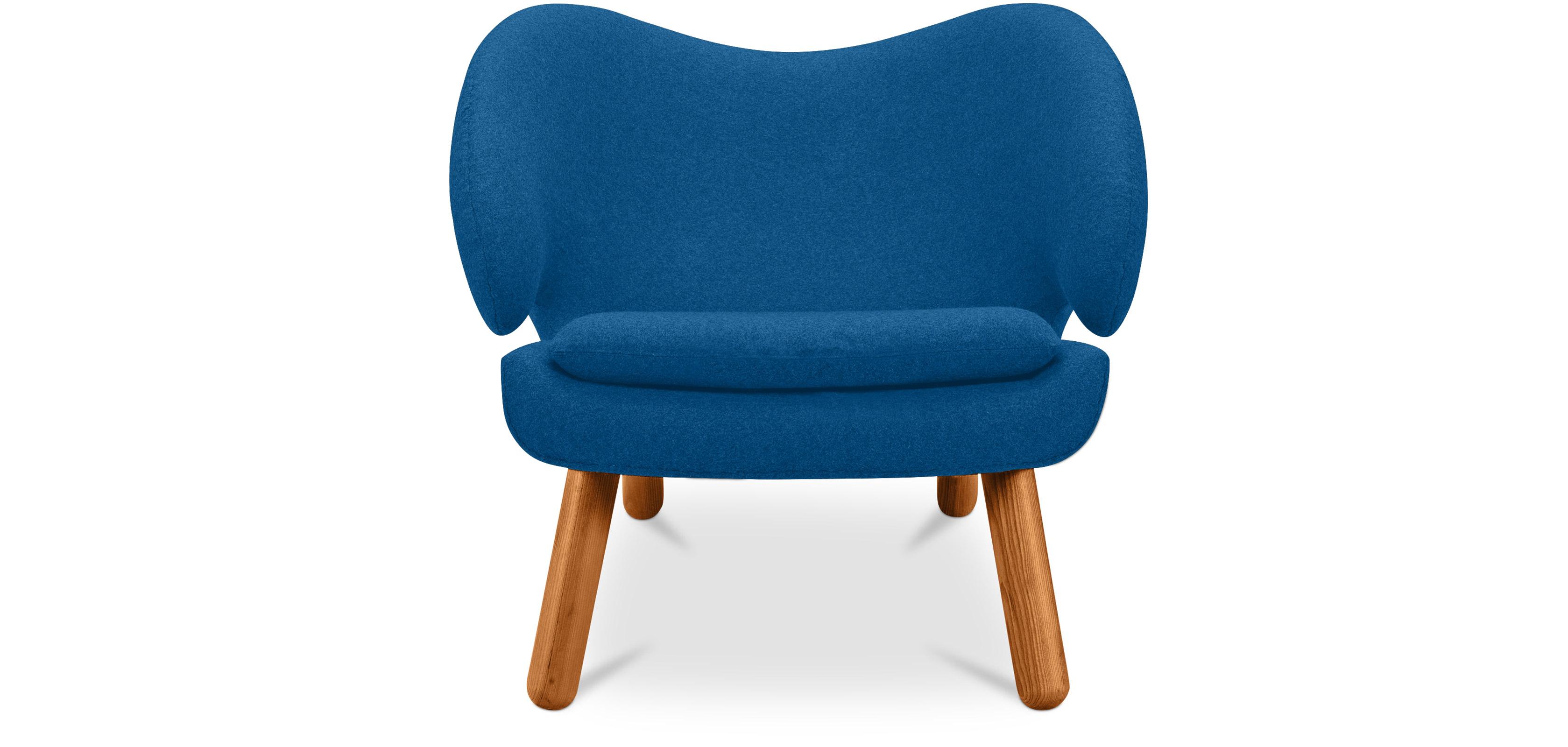 Fauteuil de salon p lican design scandinave style finn juhl tissu - Fauteuils salon design ...