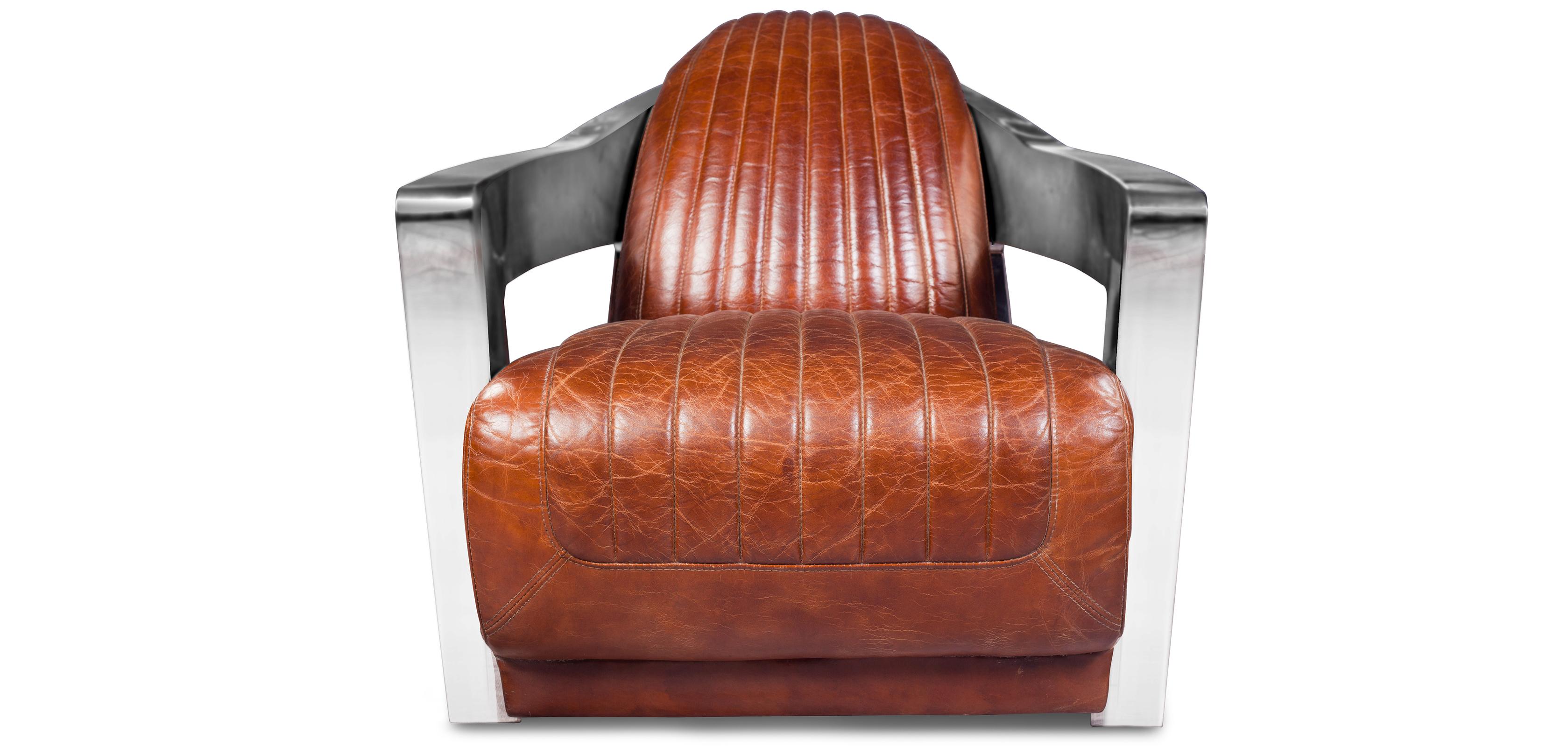 fauteuil lounge cuir premium et acier