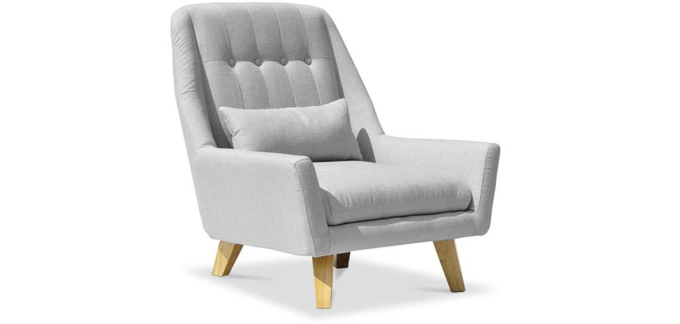 fauteuil style scandinave mi tissu. Black Bedroom Furniture Sets. Home Design Ideas