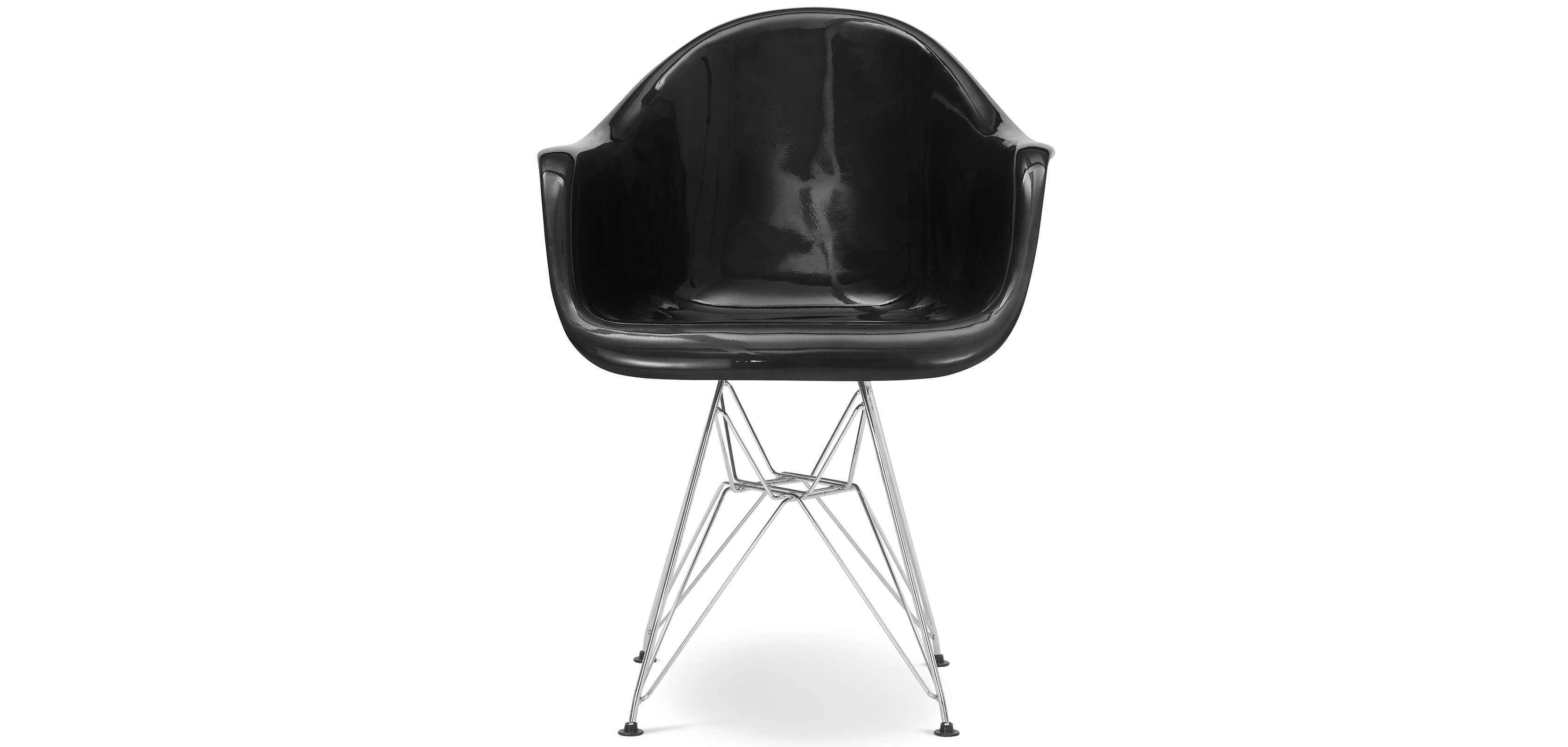 chaise dar charles eames fibre de verre brillant. Black Bedroom Furniture Sets. Home Design Ideas