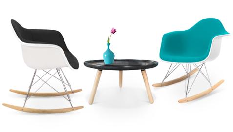 chaise bascule rar charles eames. Black Bedroom Furniture Sets. Home Design Ideas