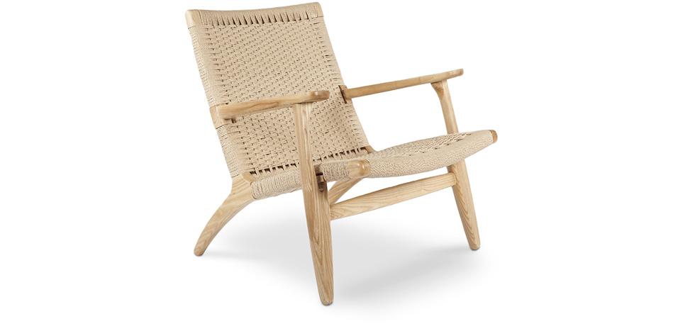chaise ch25 hans wegner bois. Black Bedroom Furniture Sets. Home Design Ideas