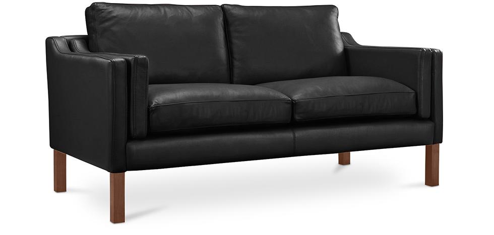 canap 2212 scandinave 2 places borge mogensen simili cuir. Black Bedroom Furniture Sets. Home Design Ideas