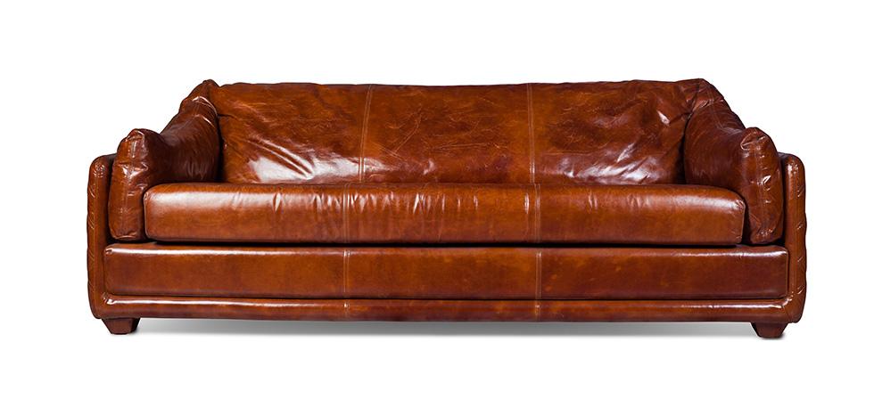 canap vintage 3 places cuir premium - Canape Vintage