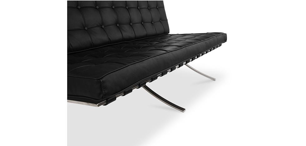 canap barcelona inspiration mies van der rohe 2 places simili cuir. Black Bedroom Furniture Sets. Home Design Ideas