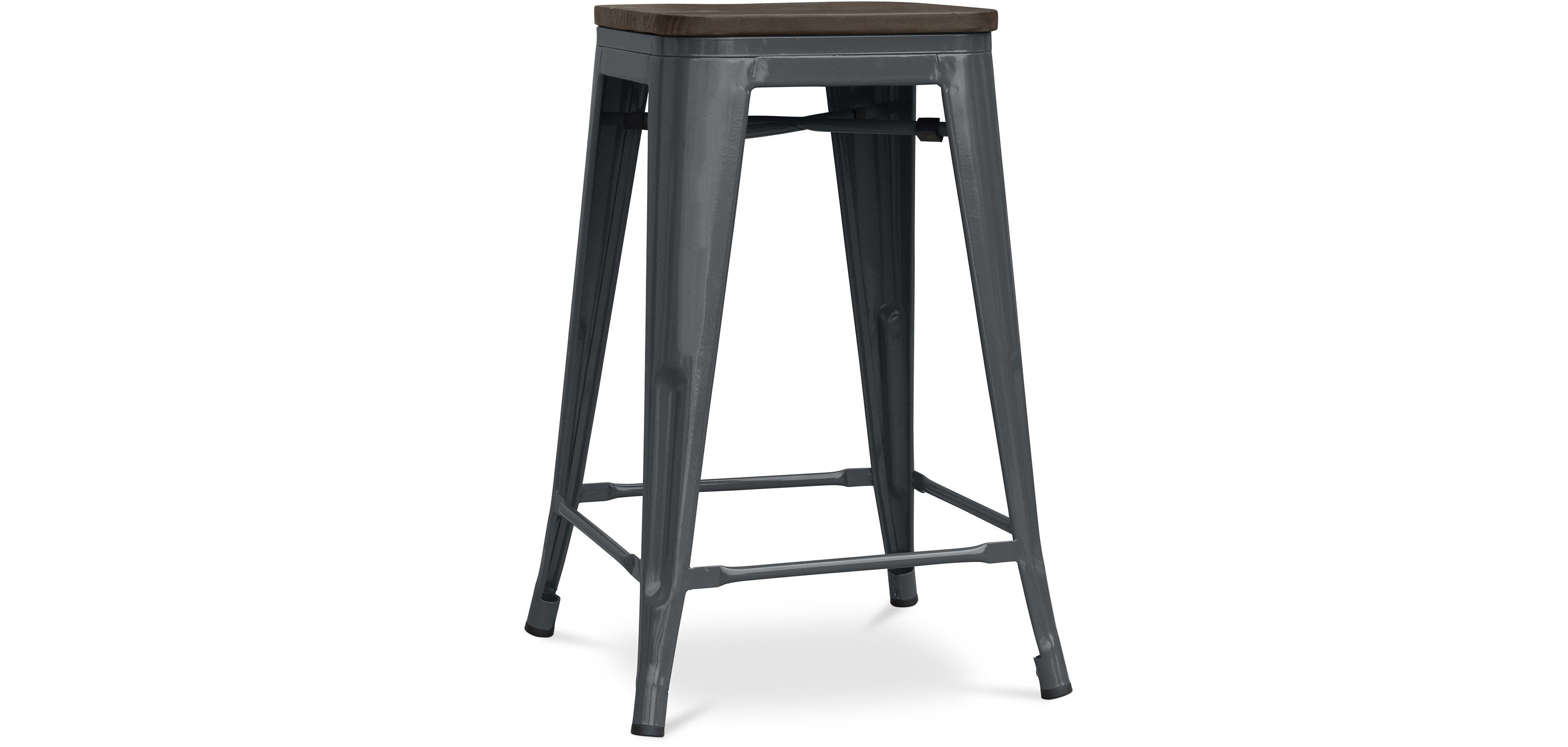 tabouret tolix assise en bois xavier pauchard. Black Bedroom Furniture Sets. Home Design Ideas