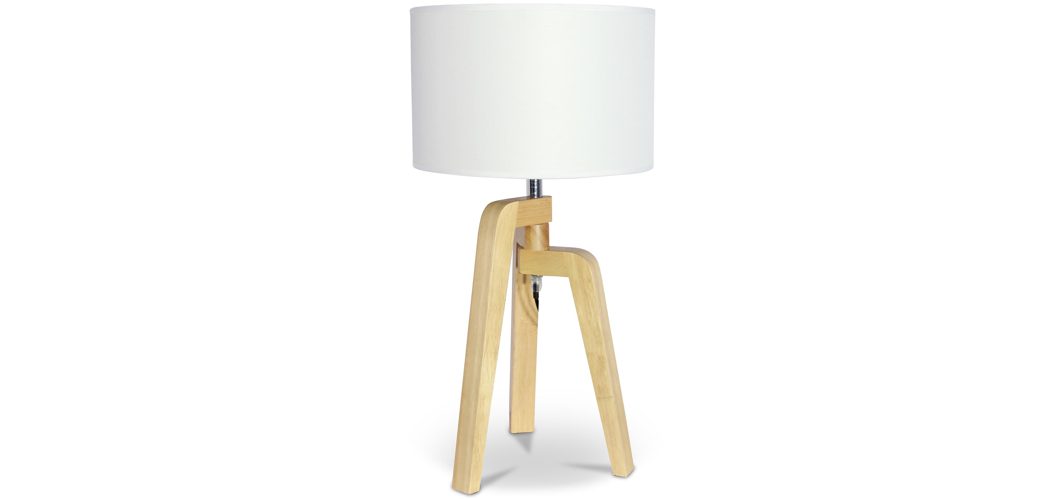 lampe tr pied style nordique bois. Black Bedroom Furniture Sets. Home Design Ideas