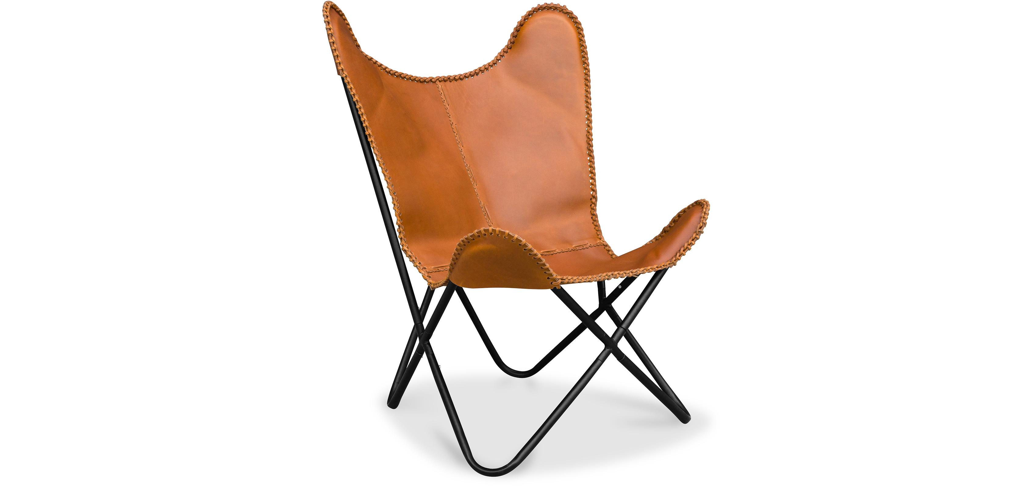 fauteuil papillon cuir premium. Black Bedroom Furniture Sets. Home Design Ideas