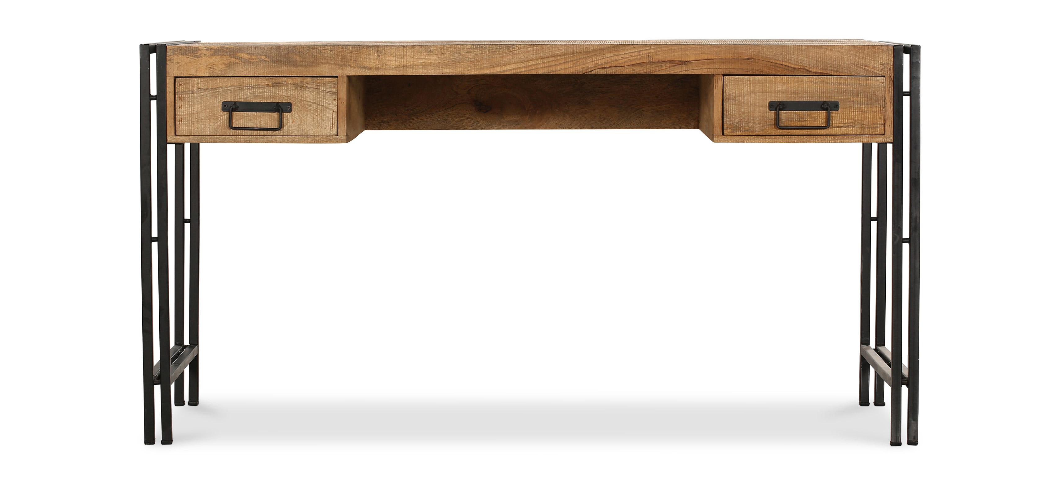 bureau en bois vintage industriel