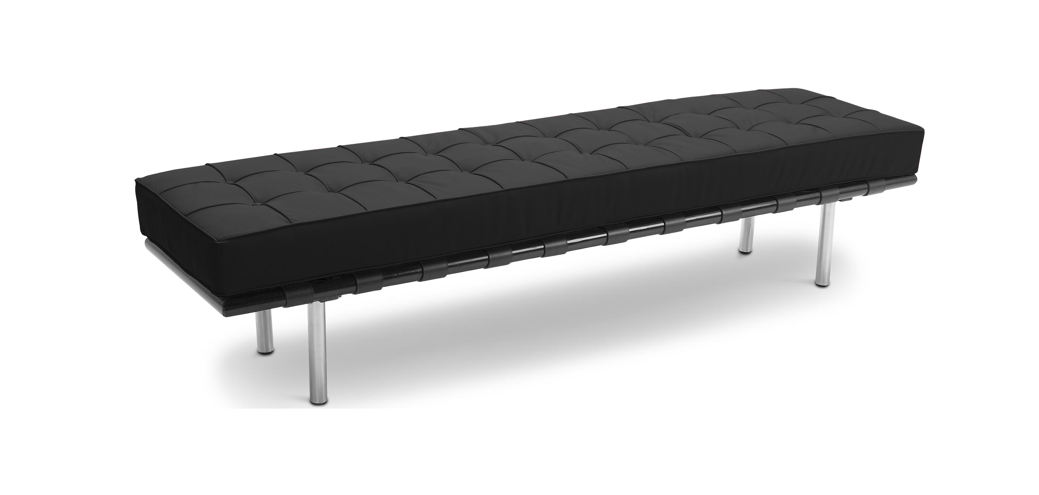 banc barcelona ludwig mies van der rohe simili cuir. Black Bedroom Furniture Sets. Home Design Ideas