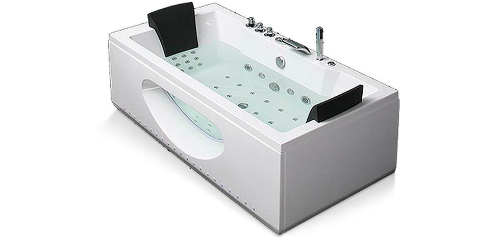 baignoire balneo rectangulaire 2 places pas cher. Black Bedroom Furniture Sets. Home Design Ideas