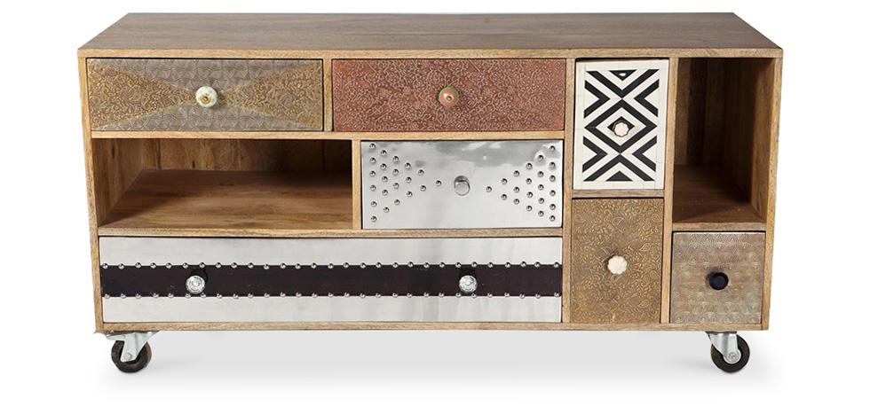 meuble tv de design vintage mady. Black Bedroom Furniture Sets. Home Design Ideas