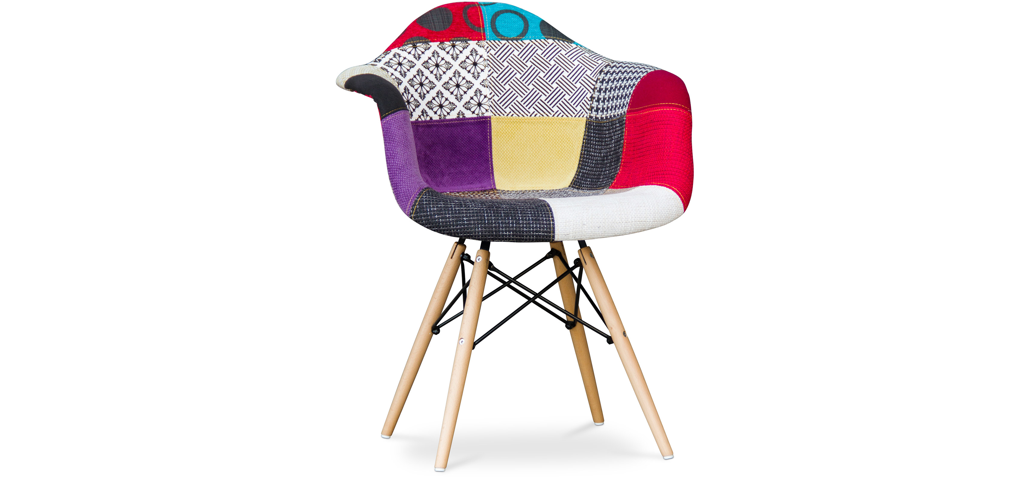 Chaise DAW Charles Eames Patchwork