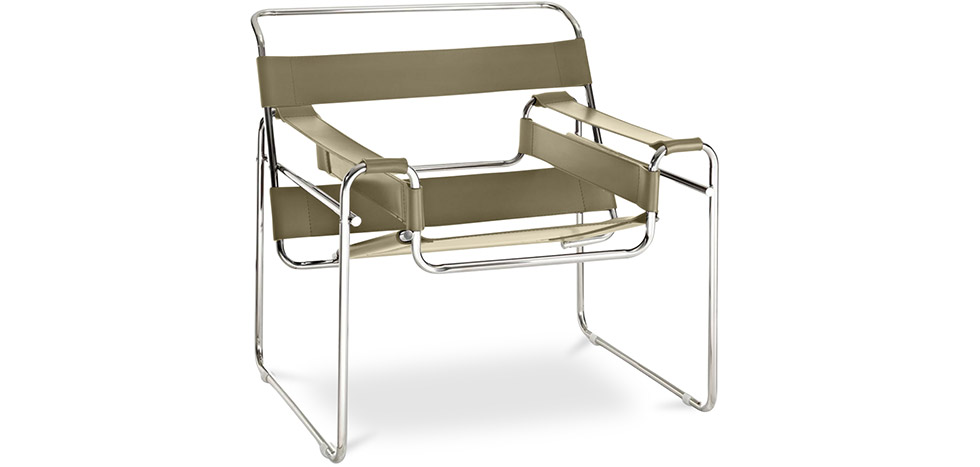 chaise wassily style marcel breuer cuir premium. Black Bedroom Furniture Sets. Home Design Ideas