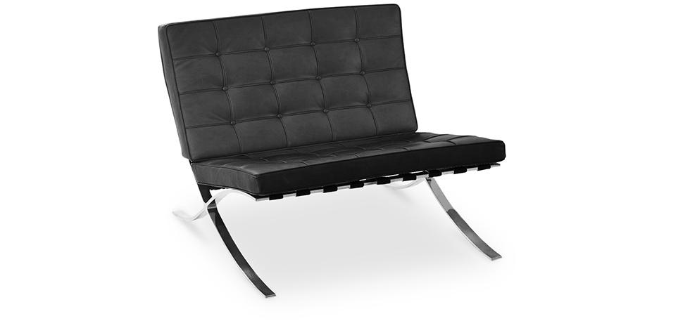 fauteuil barcelona ludwig mies van der rohe simili cuir. Black Bedroom Furniture Sets. Home Design Ideas