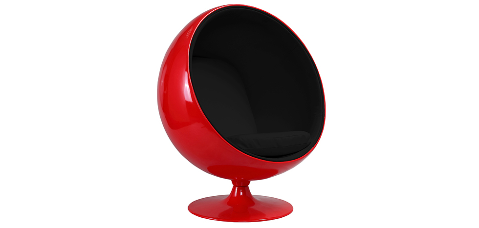 fauteuil ball chair rouge eero aarnio style tissu. Black Bedroom Furniture Sets. Home Design Ideas
