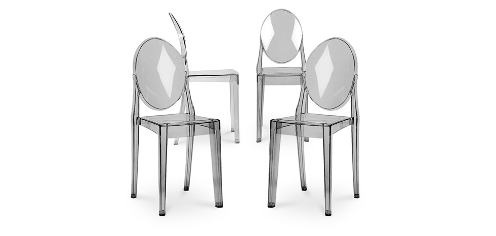 Chaise victoria ghost philippe starck lot de 4 - Chaise louis ghost pas cher ...