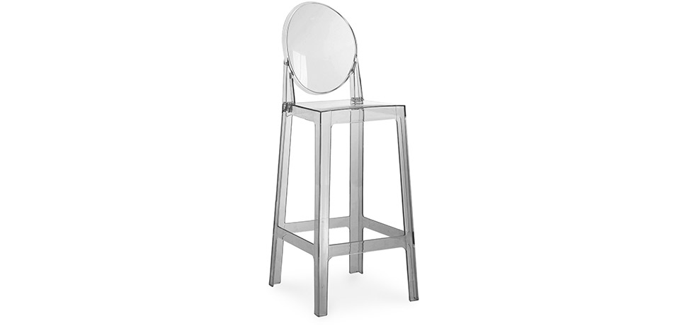 tabouret de bar victoria ghost philippe starck 75cm. Black Bedroom Furniture Sets. Home Design Ideas