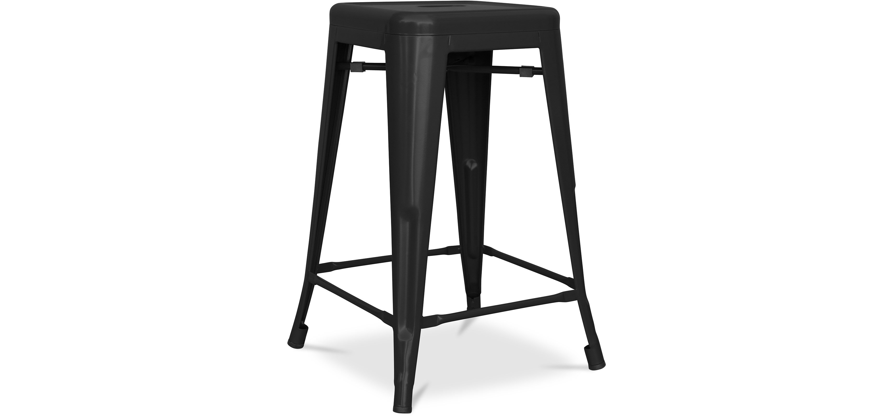 tabouret tolix 60cm xavier pauchard style m tal mat. Black Bedroom Furniture Sets. Home Design Ideas