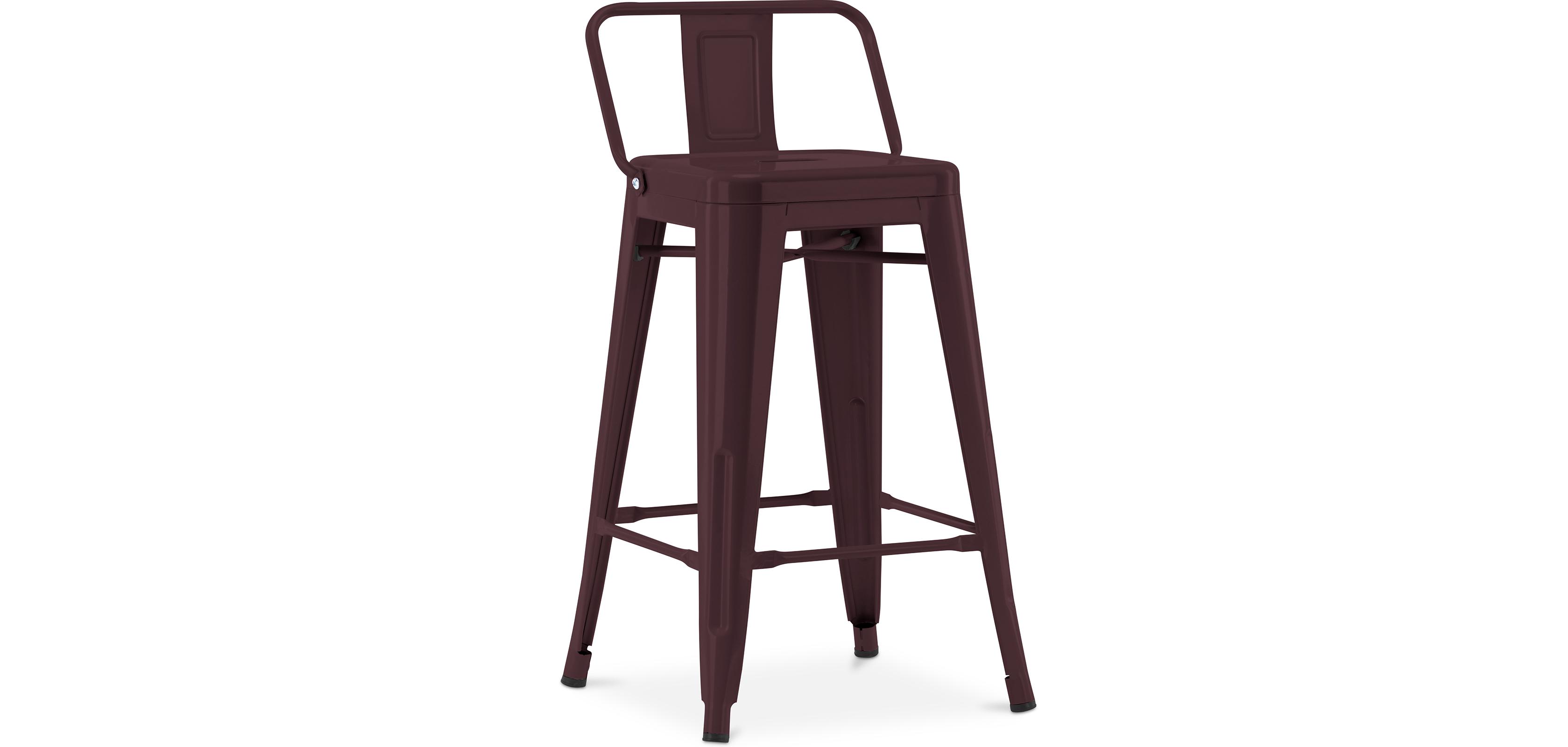 tabouret tolix avec petit dossier xavier pauchard style 60cm. Black Bedroom Furniture Sets. Home Design Ideas