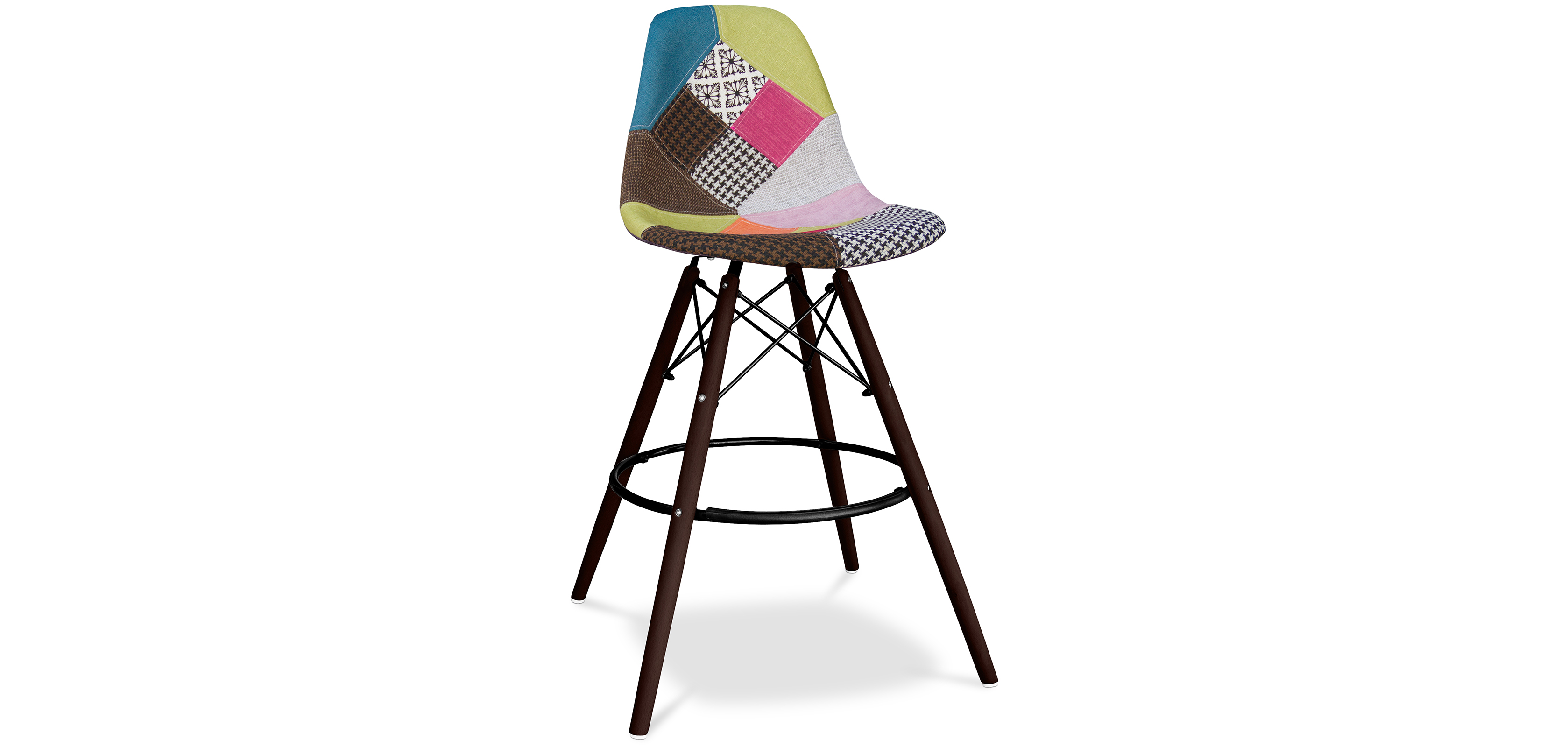 tabouret dsw patchwork charles eames. Black Bedroom Furniture Sets. Home Design Ideas