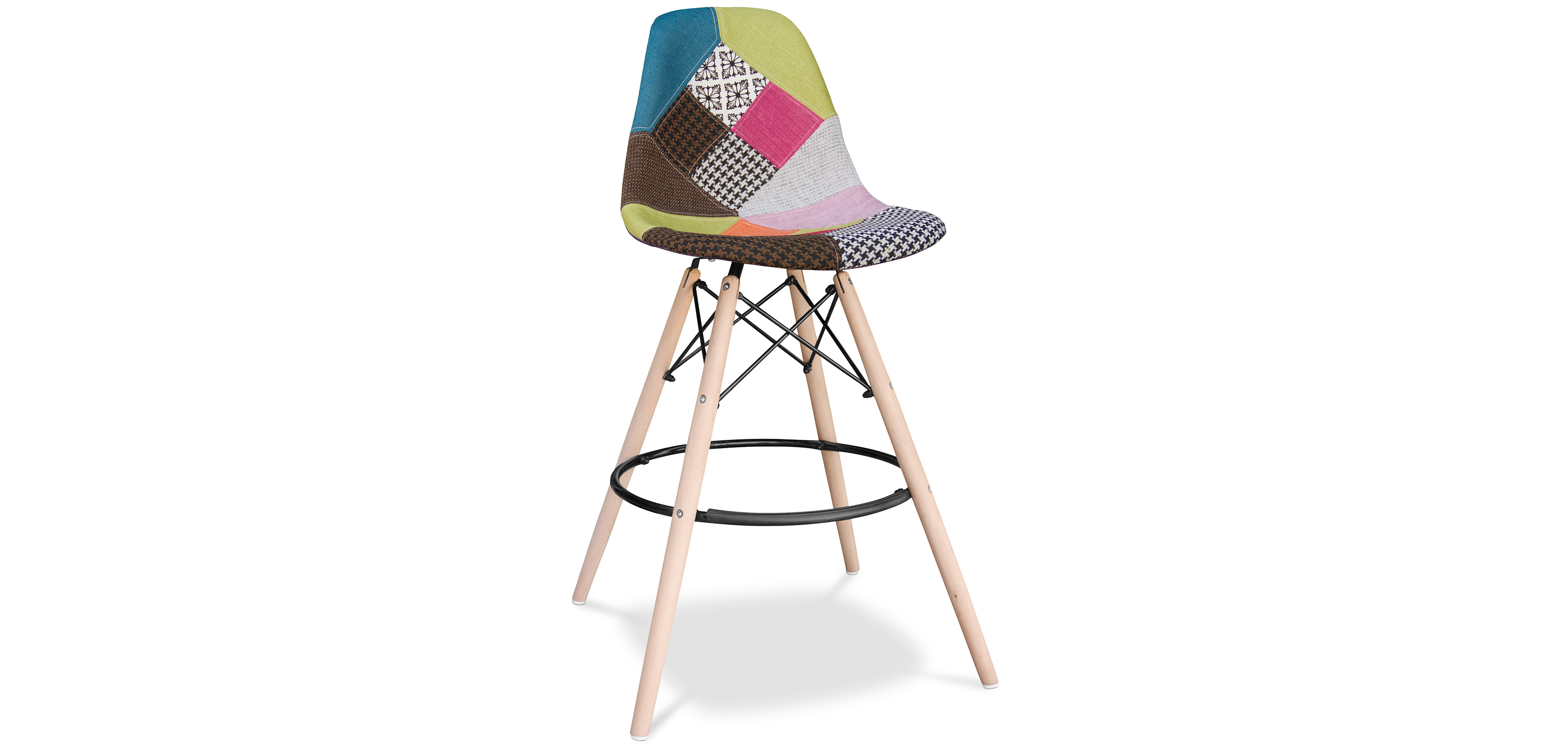 tabouret dsw charles eames style patchwork. Black Bedroom Furniture Sets. Home Design Ideas