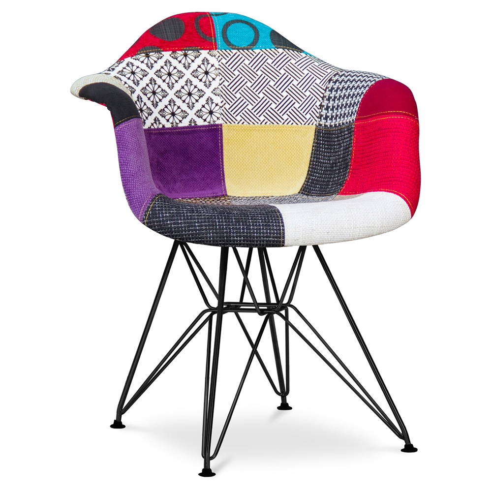 Chaise DAR patchwork Charles Eames Style